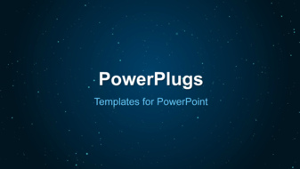 PowerPoint Template - An Abstract Space Background